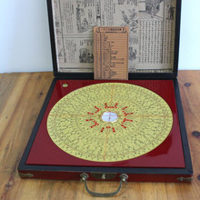 Hiqh Quality 10 inch Wooden Chinese Traditional Ancient Feng Shui Compass Luo Pan Bagua Lucky Direction