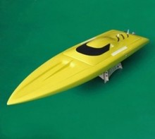 1111 Rocket Fiberglass Racing Boat/Brushless Electric Boat yellow with 2858 KV2881 Brushless Motor 70A ESC(China)