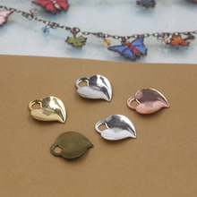 13*15mm,100pcs Copper Antique Bronze/Silver/Gold 5 colors Vintage Peach Heart(China)