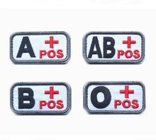 1 set/lot Fashion custom embroidery magic sticks collar embroidery blood type chapter tactical arm badge embroidery flag patches