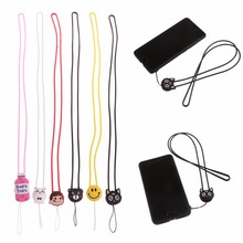 Silicone Cute 3D Cartoon Long Neck Strap Lanyard For Mobile Phone Case Cover
