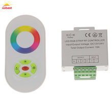 1pc DC12V/24V Wireless 5 Button Half Touch Panel Wireless LED Remote Controller For RGB Led Strip Light 18A DC 12V/24V(China)