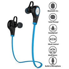 Q9 Sports Bluetooth Headsets CSR4.1 Wireless Headphones In-ear Stereo Earphone with Microphone for iPhone 7 plus Samsung LG O3(China)