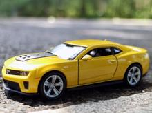 1:36 11.5cm new Welly Chevrolet Camaro car alloy vehicle model pull back cool boy birthday toy(China)