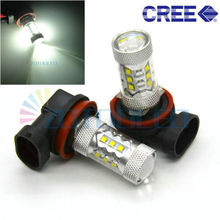 Buy 2x H9 16 SMD Xenon White 80WSuper brighter DRL Headlight Light Bulb Car Truck Auto Fog Driving Daytime Running Light for $26.59 in AliExpress store