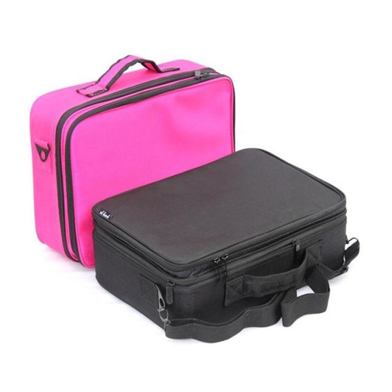 Professional Large Capacity Storage Toiletries Makeup Bag Cosmetic Case Fashion<br>