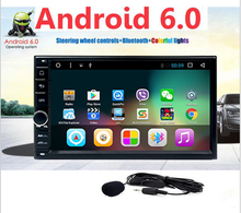 New Arrival in Dash Double 2 Din NO dvd Player Automotive Android 6.0 2 din car stereo System GPS Navigation Bluetooth Camera(China)