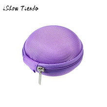 PU Leather Zipper Protective Headphone Case Pouch Usb Cable Organizer Cute Earphone Storage Bag Soft Headset Earbuds Boxes(China)
