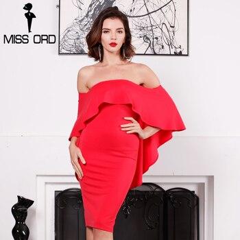 Missord 2017 sexy raya vertical del cuello sin tirantes de las colmenas sin respaldo de split dress ft8181