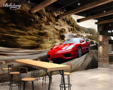 Beibehang 3D Wallpaper Speed Sports Car Background Wall Painting Living Room Bedroom TV Background photo Wallpaper for walls 3 d