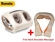 (Russia Only)Luxury feet massager electric shiatsu foot massager Machine Foot Care Device with Heat+ Free Neck Shoulder Massager