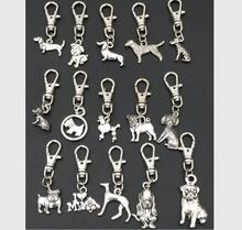 High quality key pendant Antique Silver Zinc Alloy Mixed dog Key Chains DIY Keys Car Bag Handbag Jewelry Accessories(China)
