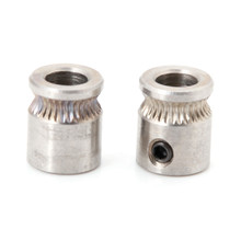 Durable 2 Pcs Drive For Gears 1.75/3mm Filament steel 3D Printer Extruder Pulley Feeding Hobbed Wheel Squeeze Feed Wheel(China)