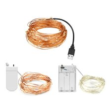 AIMENGTE 2M/5M/10M DC5V Waterproof USB Copper Wire LED strings 3 types Party/ Fence/ Christmas/holiday decoration LED strip