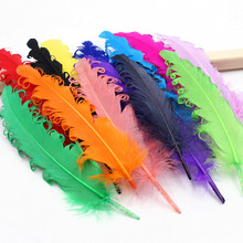 20pcs mixed color color curly Goose Feather Halloween Christmas wedding costumes hat Decorative materials Feather 6-8inch(China)