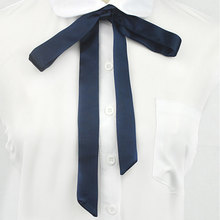 JK Bow Tie High School Girls Tie Japanese Preppy Chic Uniform Comic and Animation Cosplay Neck Rope Butterfly Navy Blue