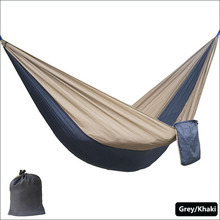 Solid Color Nylon Parachute Hammock Camping Survival garden swing Leisure travel Portable outdoor furniture(China)