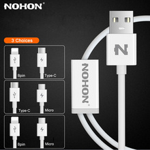Original NOHON 2 IN 1 USB Cable 8Pin Type C Micro For iPhone 7 6 6S Plus iPad iPod For Samsung Lenovo Nokia LG Android USB Wire(China)