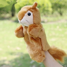 Hot Sale Baby Plush Puppet Hand Puppet Dolls Cute Squirrel Doll Toys Christmas Gifts Brinquedo Marionetes Fantoche(China)