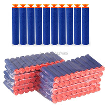 20pcs Soft Hollow Hole Head Blue 7.2cm Refill Darts Toy Gun Foam Safe Sucker Bullet For Boy Childs Kid Nerf(China)