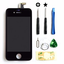 Front Screen for iPhone 4s LCD Display + Touch Screen Digitizer Assembly + Frame + Tools mmobiel