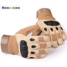 New US Army Tactical Gloves Military Gloves Full finger Combat Mens Warm Glove Slip-resistant Carbon Fiber Mittens(China)