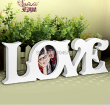Free Shipping 1X White LOVE Photo Frame Swing Sets Hanging Home Photo Frame Day Gift Wedding Home Decoration(China)