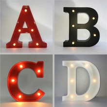 Customized ABS Material Letters LED light Height 30cm Indoor Wall Desk Decor Craft for Wedding Birthday Party Valentine's Day