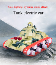 2017 New Arrival Mini Diecast Light & Sound Electric Military Tank Toy Car Model Machine Kid boy Toy Gift Collection Brinquedos(China)