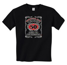 Vintage 50 Aged To Perfection Fine Wine- Happy 50th Birthday Fifty Mens T-Shirt100% Cotton Print Mens Summer O-Neck