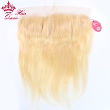 Queen Hair Products 100% Human hair #613 Color Lace front closure Remy Hair bleached knots 13x4inch Straight