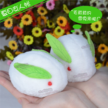 VOCALOID miku Snow Bell Lepus timidus bunny rabbit green doll lovely white toy cosplay accessory birthday gift Free Shipping(China)