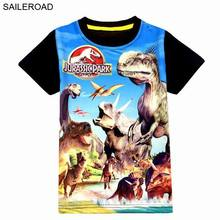 SAILEROAD 4-9age Dinosaur Print Pattern Children Boy T Shirt Summer Baby Kids Boys Tops Tee T Shirts For Boys Clothes Garments