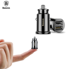 Baseus Dual USB Car Charger 3.1A Fast Car Charging Auto Charge Adapter iPhone Samsung USB Car-Charger Mobile Phone Charger