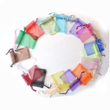 50pcs Jewelry Bags Drawstring Organza Bags & Gift Bags Wedding Christmas Drawstring Pouch Bags Jewelry Packaging 9x12cm Z440