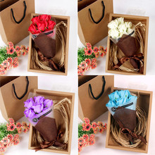 Surprise gift Random 7Pcs Bath Body Petal Rose Flower Soap Wedding Decoration Creative Valentine's Day gift X#dropship(China)