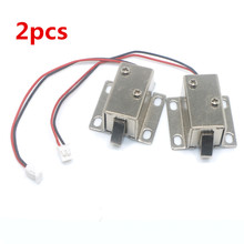 2 PCS DC 12V Cabinet Door Lock Electric Lock Assembly Solenoid Free Shipping