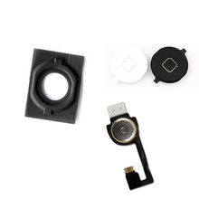 HOT High Quality For iPhone 4S 4G 5 5G 5C Home Menu Button Return Flex Cable Rubber Gasket Cap Mat Full Set Replacement Part