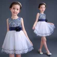 Girls dress for party for 5--16 years old kids wedding gowns baby clothes flower fashion elegant summer new style cheap princess