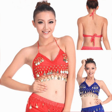 Sexy Coins Belly Dance Bra Top 11 Colors(China)