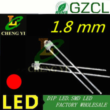 1.8mm DIP LED RED led diode Water clear 2mm Mini light emitting diode 2.0-2.2V 620-630nm(CE&Rosh)(China)