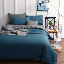 high quality cotton solid color red beige orange blue grey  bedding set duvet cover set