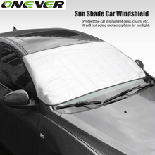 Onever Window Foils Sun Shade Car Windshield Visor Cover Block Front Window Sunshade UV Protect Car Window Film Car Styling