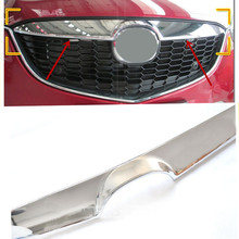 Front Center Grill Cover Grille Trim For Mazda 12 13 CX-5 CX5 2012-2013 1Pc ABS Chrome