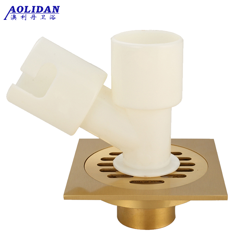 Fully enclosed kitchen toilet floor drain washing machine stainless steel balcony antique copper single and double anti blocking<br><br>Aliexpress