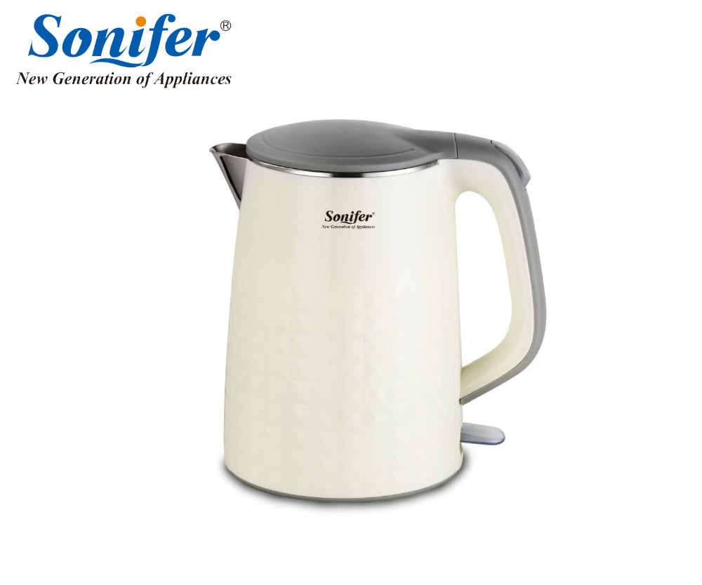 1.8L colorful Electric Kettle 1500W 220V Household Quick Heating Electric Boiling Pot Sonifer<br>