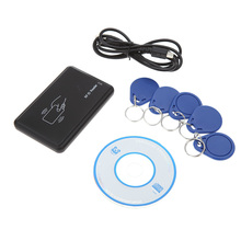 Contactless USB Interface 13.56MHZ RFID 14443A Card Encoder IC Card Reader for Mifare Writer with 5pcs Cards + 5pcs Key Fob