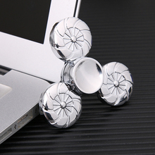 Buy 2017 EDC Tri-Spinner Fidget Toys Pattern Hand Spinner Metal Fidget Spinner ADHD Adults Children Educational Toys Hobbies for $5.89 in AliExpress store