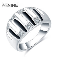 AENINE Ethnic Rings For Women Vintage Pave Setting Rhinestone Painting Oil Ring Jewelry Anillos Aneis For Christmas Gifts