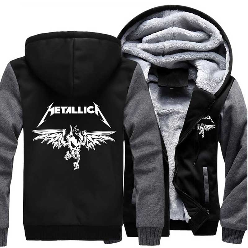 2017 Tracksuit brand hip hop drake streetwear zipper fleece homme jacket Classic Rock Heavy Metal Sweatshirt Men Hoody hipster